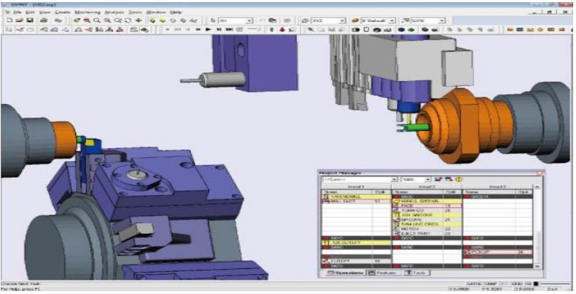 ESPRIT软件,迪培公司,车铣复合编程软件